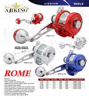 AJIKING Reel-Rome RV-100 (9+2BB) KIRMIZI Renk