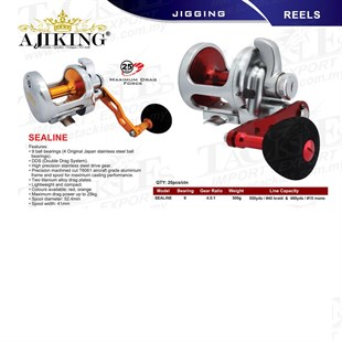 AJIKING Reel-Sealine (9BB) KIRMIZI Renk