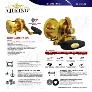 AJIKING Reel-Tournament Jig (9BB) ALTIN Renk