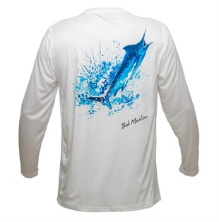 Bob Marlin Performance Shirt Ocean Marlin White