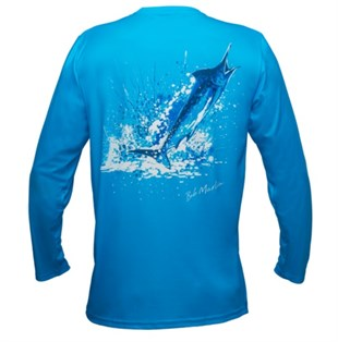 Bob Marlin Performance Shirt Ocean Marlin Blue