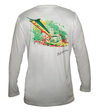 Bob Marlin Performance Shirt Rasta Marlin White
