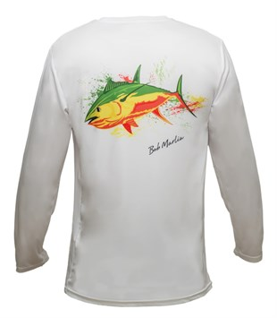 Bob Marlin Performance Shirt Rasta Tuna White