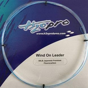 H2O Wind On Leader 50lb Premium Fluorocarbon